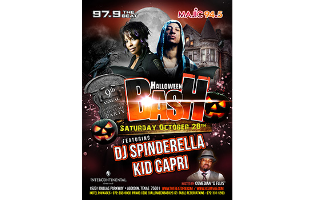 9th Annual Radio One Halloween Bash<br>with DJ Spinderella and Kid Capri<br>Saturday, October 28th, 2017