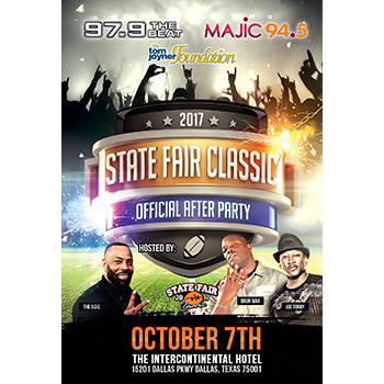 The State Fair Classic Official After Party with Paul Wall and Webbie, October 7th, 2017